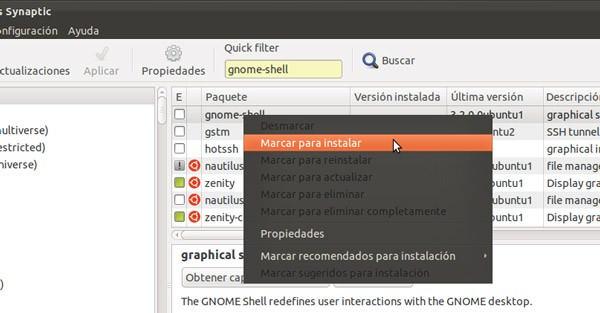 gnome shell de ubuntu