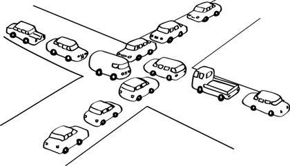 congestionamiento de tráfico