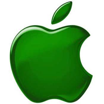 logo de mac verde